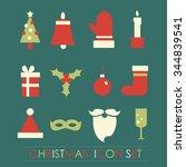 christmas celebration card. new ...   Shutterstock .eps vector #344839541
