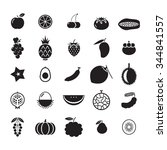 icon fruit set | Shutterstock .eps vector #344841557