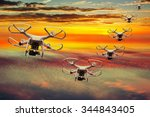 Drones Squadron In The Sunset...