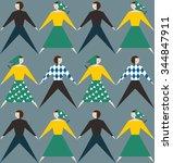 seamless  pattern. vector... | Shutterstock .eps vector #344847911