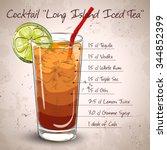 cocktail long island iced tea... | Shutterstock .eps vector #344852399