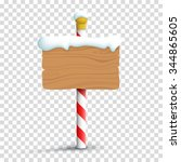 christmas winter snow blank... | Shutterstock .eps vector #344865605