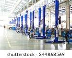 blurred of car technician... | Shutterstock . vector #344868569