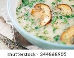 Hot Homemade Mushroom Soup...