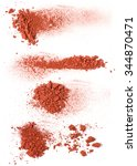 the handfuls of brown ground ... | Shutterstock . vector #344870471
