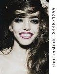 closeup portrait of one... | Shutterstock . vector #344871299