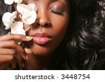 beautiful sexy black woman with ... | Shutterstock . vector #3448754