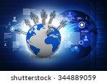 business network | Shutterstock . vector #344889059