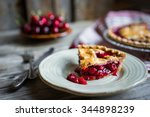 homemade cherry pie on rustic... | Shutterstock . vector #344898239