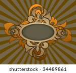 retro abstract with decorative... | Shutterstock .eps vector #34489861