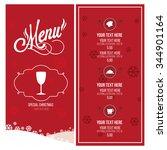 christmas menu illustration...   Shutterstock .eps vector #344901164