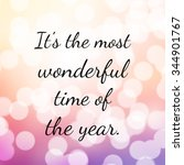 quote about christmas and... | Shutterstock . vector #344901767