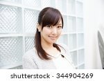 beautiful young woman. portrait ... | Shutterstock . vector #344904269