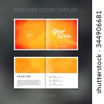 vector abstract brochure design ... | Shutterstock .eps vector #344906681
