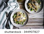 grilled white fish fillet with... | Shutterstock . vector #344907827