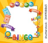 bingo or lottery game... | Shutterstock .eps vector #344908865