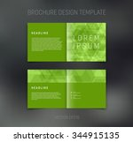 vector abstract brochure design ... | Shutterstock .eps vector #344915135