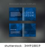 vector abstract brochure design ... | Shutterstock .eps vector #344918819