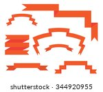 banner ribbons vector set  | Shutterstock .eps vector #344920955