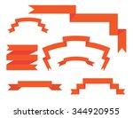 banner ribbons vector set  | Shutterstock .eps vector #344920955