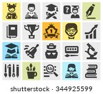 school  college  education set... | Shutterstock .eps vector #344925599