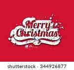 merry christmas text design. | Shutterstock .eps vector #344926877