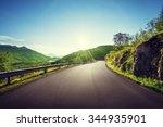 summer road in mountain ... | Shutterstock . vector #344935901