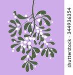 mistletoe vector illustration | Shutterstock .eps vector #344936354