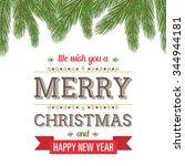 christmas fir design | Shutterstock .eps vector #344944181