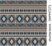 seamless ethnic pattern design | Shutterstock .eps vector #344947271