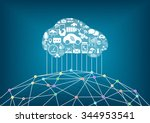 connected car and internet of... | Shutterstock .eps vector #344953541
