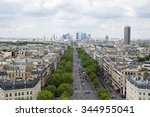 paris view from arc de triomphe.... | Shutterstock . vector #344955041