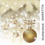 merry christmas y happy new... | Shutterstock .eps vector #344957774