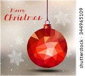 merry christmas ball easy all... | Shutterstock .eps vector #344965109