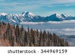 winter landscape in the... | Shutterstock . vector #344969159