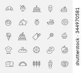 bakery icon set | Shutterstock .eps vector #344970581