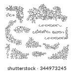 hand drawn flowers clip art....   Shutterstock .eps vector #344973245
