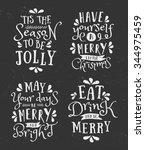 a set of chalkboard style... | Shutterstock .eps vector #344975459