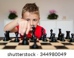 young white child playing a... | Shutterstock . vector #344980049