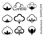 icons set indicating the cotton ...   Shutterstock .eps vector #344991599