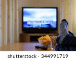 tv  television watching ... | Shutterstock . vector #344991719