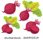 vector beet. red beetroot with...