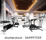 abstract sketch design of... | Shutterstock . vector #344997539