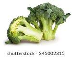 broccoli isolated | Shutterstock . vector #345002315