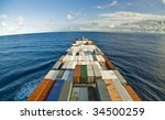 Large Container Vessel Ship And ...