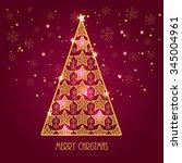 merry christmas | Shutterstock .eps vector #345004961