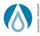 water drop logo vector. | Shutterstock .eps vector #345011699