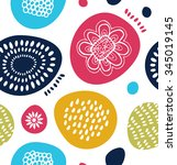 vector decorative pattern in... | Shutterstock .eps vector #345019145
