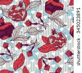 floral ornamental illustration... | Shutterstock .eps vector #345023891