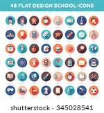 set of modern flat design... | Shutterstock . vector #345028541